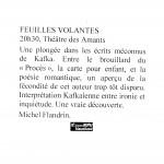 Feuilles volantes - Kafka - France Bleu Vaucluse - juillet 2002
